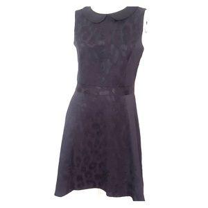 Medium Eric Lane black leopard print dress
